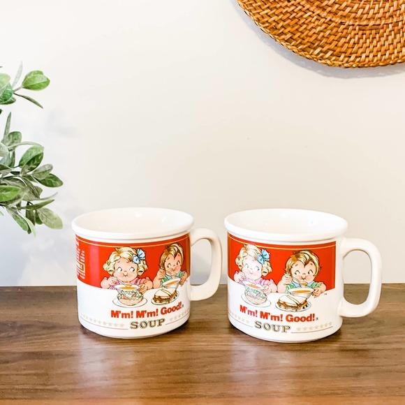 Vintage Campbell's Soup Coffee Mug Bowl Set